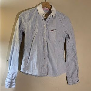 Hollister striped button up Sz Small